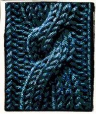 Blue Farrah: a stitchchart